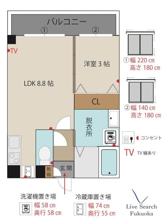 WestCourtDR3号室_間取り図