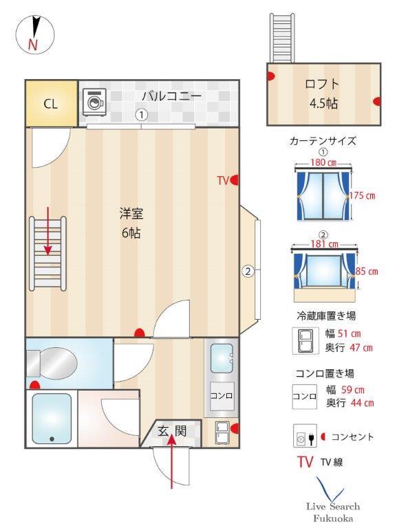 エスパルス室見1号室_間取り図